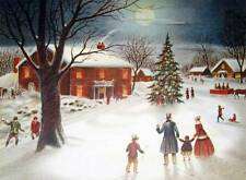 Beautiful Winter Scene Christmas Tree Village