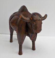 "New listing Metal Art Buffalo Sculpture Animal Figure 13 1/2"" Long American Bison"