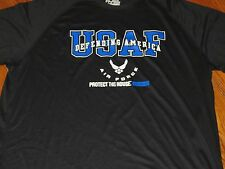 NWT UNDER ARMOUR MEN LARGE US AIR FORCE BLACK  'PROTECT THIS HOUSE' LOOSE  SHIRT