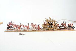 Zinnfigur Diarama Königliche Kutsche mit Geleit ca.60cm Zinnfiguren W-2995