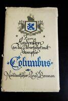 Bremen Early Ship Cards Rare Set of 8 Columbus Envelope