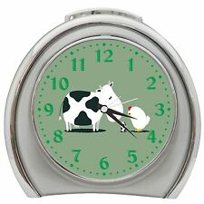 Cow Chicken Egg Alarm Clock Night Light Travel Table Desk