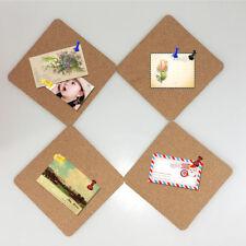 DIY Kork Pinnwand selbstklebend 4er Set Aufkleber Pinntafel Memoboard Korktafel