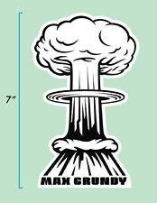 Mushroom Cloud Sticker by Atomic Kustom Kulture Artist MAX GRUNDY Lowbrow Art