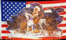 Fahne Flagge USA Indianer Country Pferd Indian  1,5 Meter x 0,9 Meter Neu  #266