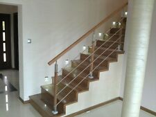 Balustrades OAK POST 40x40 with stainless steel 4 x fi12 holders and bracket
