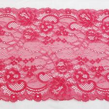 RICAMO Pizzo Trim-Fiore rosa-Bambola Abito Rosa-anguria - 19cm-EM12