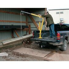 New! Steel Winch Operated Pickup, Trailer & Truck Jib Crane 1000 Lb. Capacity!