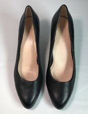 Taryn Rose Tatiana Black Leather Pumps Heels 9 M