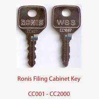 KT4000 Ronis Replacement Filing Cabinet Key KT3001