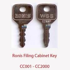 Ronis Replacement Filing Cabinet Key CC001 - CC2000