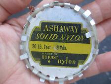 New listing Vintage Ashaway Leader Aluminum Spool Du Pont Solid Nylon Collectible