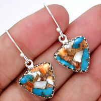 Spiny Oyster Turquoise - Arizona 925 Sterling Silver Earrings Jewelry 4617