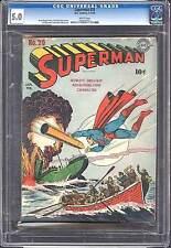 Superman #20 CGC 5.0 DC 1943 Rare WHITE pages!! WW II Cover! clean 602 1 E3 cm