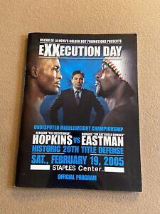 Boxing Program: Bernard Hopkins vs Eastman. 2/19/05. 20th Title Defense. Poster.
