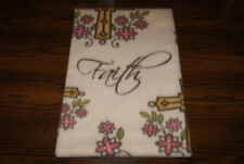 New Faith Christian Fleece Dog Cat Pet Carrier Crate Blanket Free Ship! Help Bcr