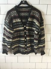 URBAN VINTAGE RETRO NORWEGIAN STYLE WINTER WOOL JUMPER CARDIGAN SIZE S/M #195