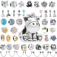 925 European Sterling Fashion Silver Charms Bead for Bracelet Chain Necklace AA1