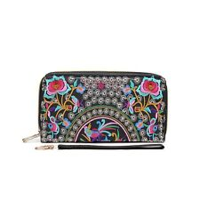 Hearty Trendy Ethnic Fashion Embroidered Wallet! Unique Print!  Two Designs!