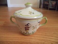 Vintage Longchamp France Sugar Bowl with Lid - decor inalterable