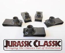 1946-80 Mopar 5pk 5/16-18 Extruded Fender U-Nuts Clips Hood Body Trunk Glovebox
