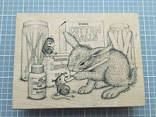 Stampa Rosa Wood Mounted Rubber Stamp HOUSE MOUSE Bunny RN Friends #435