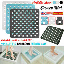 BATH SHOWER MAT NON SLIP BATHROOM PVC RUBBER MATS ANTI SLIP SUCTION 43 X 43 cm