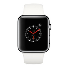 Apple Watch Series 2 - 42mm, WiFi - Stainless Steel Black with White Sport Band