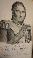 Duc de Berry Eloge historique de son Altesse Royale 1820