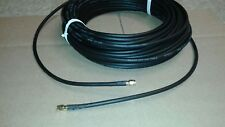 US MADE LMR-240  50FT  SMA  male to SMA Male  COAX CABLE CB,HAM,SCANNER