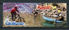 Peru 2017 MNH Adventure Sports Cycling Kayaking 2v Set Bicycles Stamps