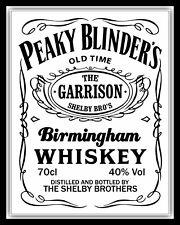 PEAKY BLINDERS THOMAS SHELBY THE GARRISON BIRMINGHAM METAL PLAQUE TIN SIGN 650