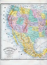 Stati UNITI MESSICO CUBA 1875 ORIG. MAPPA ATLANTE francese îles lucayes Bahamas jamaïque Haiti