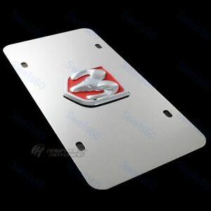 Au-Tomotive Gold DODGE RAM Logo Front Mirror Stainless Steel License Plate Frame