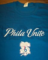 PHILADELPHIA SIXERS 76ERS NBA  PLAYOFFS PHILLY UNITE PROMO SNAKE T-Shirt XL NEW
