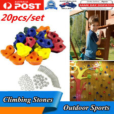 20pcs Climbing Rock Wall Stones Holds Outdoor Sports Game Kids Toys With Screws
