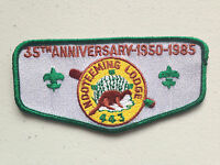NOOTEEMING OA LODGE 443 SCOUT SERVICE PATCH FLAP 35TH ANNIVERSARY CLOTH BACK