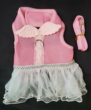 New listing Small Dog Harness Too-Too Dress With Wings & Leash