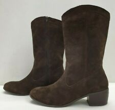 LYLA ladies womens boots brown suede mid calf Size UK 9 EU 42
