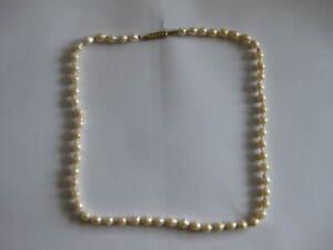 Vintage Perlenkette Naturperlen Verschluss 333