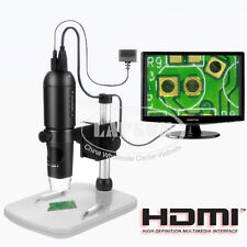 10X-200X 1080P HDMI USB HD Digital Lab Microscope Camera TF Card Video Recorder