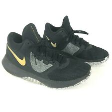 Nike Air Precision II Mens 7M Black Gold Basketball Shoes