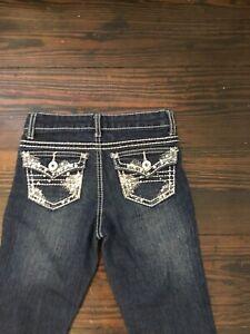 Revolution & Revolt  VGUC Girl's Blinged Distressed Jeans 8
