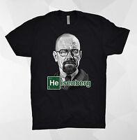 Heisenberg T Shirt Head Logo Face Walter White Breaking Bad Pinkman Blue Meth