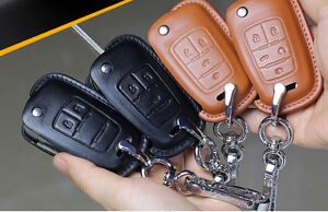 Chevrolet key chain cover case shell holder leather fob Camaro SS Malibu Impala