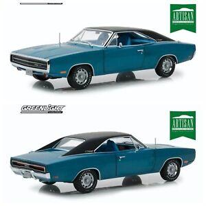 1/18 Greenlight Dodge Challenger R/T 1970 Bleue Neuf Livraison Domicile