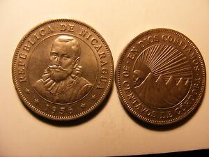 Nicaragua 1956, C/N, 50 Centavos, Uncirculated, KM#19.1