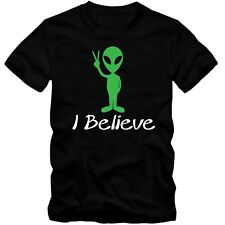 Herren Men T-Shirt I Believe Alien Space Universum Universe Ufo Fun S-3XL NEU