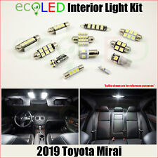 For 2019 Toyota Mirai WHITE Interior LED Light Accessories Package Kit 11 Bulbs