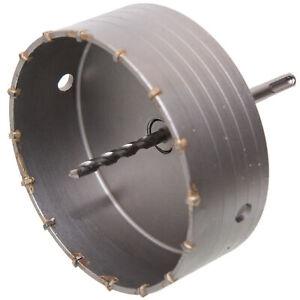 HM Bohrkrone 160 mm mit SDS Adapter und Pilotbohrer